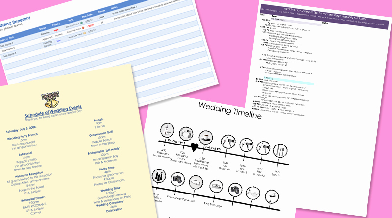 Wedding Weekend Itinerary Template Awesome 8 Free Wedding Itinerary Templates and Schedule Templates