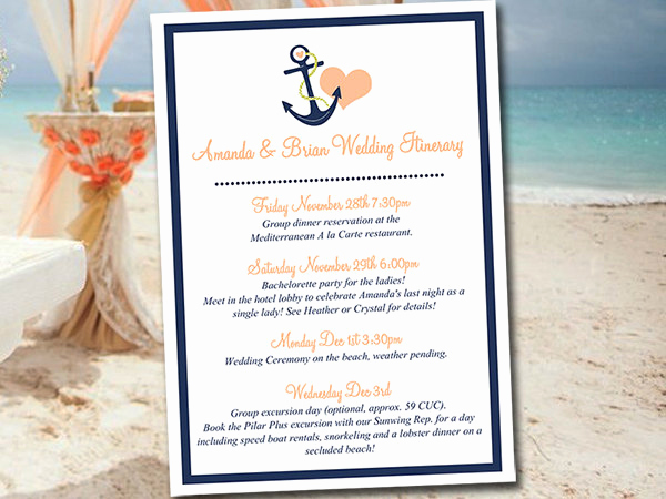 Wedding Weekend Itinerary Template Best Of Beach Wedding Itinerary Template Wedding Planner Anchor