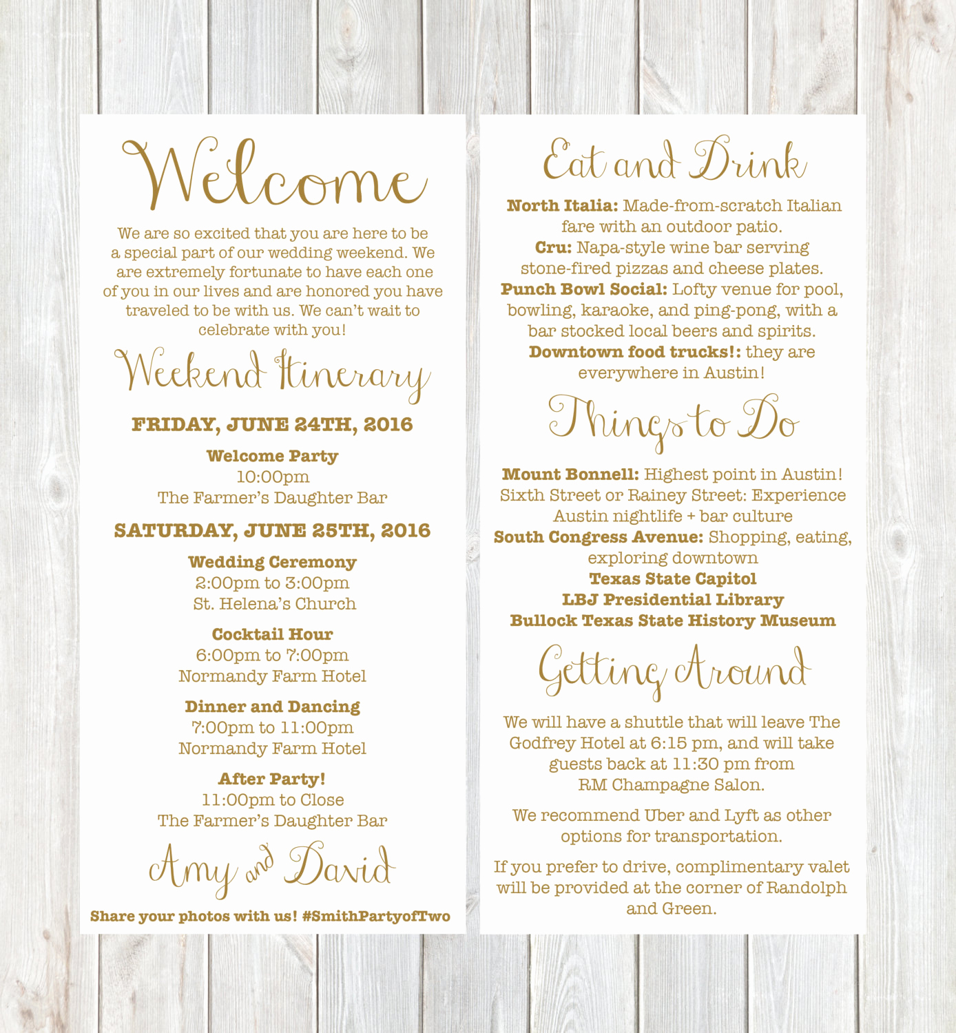 Wedding Weekend Itinerary Template Best Of Wel E Letter Weekend Itinerary Wedding Itinerary Gold