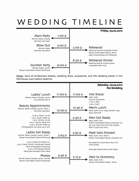 Wedding Weekend Itinerary Template Fresh Wedding Itinerary Sample Found On Weddingbee