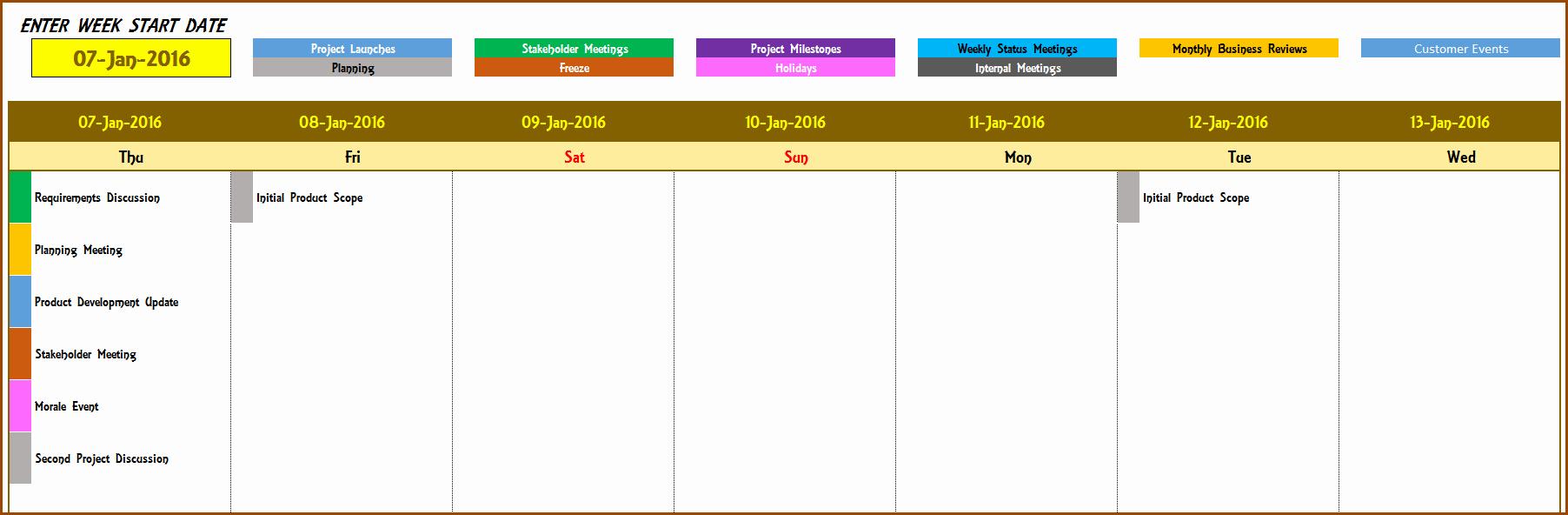 Weekly Calendar Template Excel Luxury Excel Calendar Template Excel Calendar 2019 2020 or Any