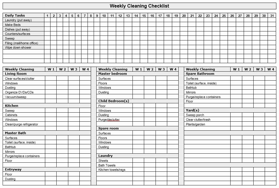 Weekly Chore Chart Template Beautiful 13 Free Sample Weekly Chore List Templates Printable Samples