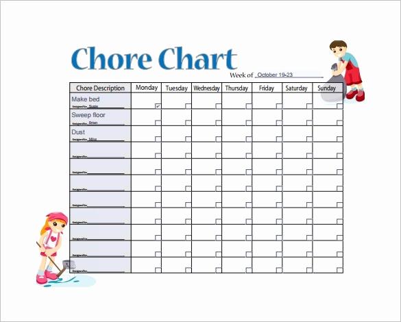 Weekly Chore Chart Template Inspirational Blank Weekly Chore Chart