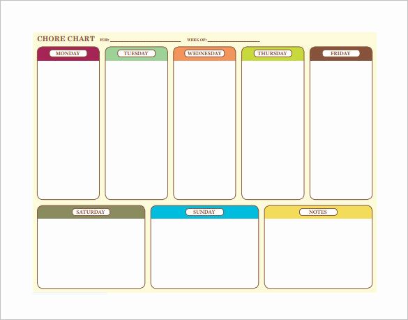 Weekly Chore Chart Template Luxury Family Chore Chart Template – 13 Free Sample Example