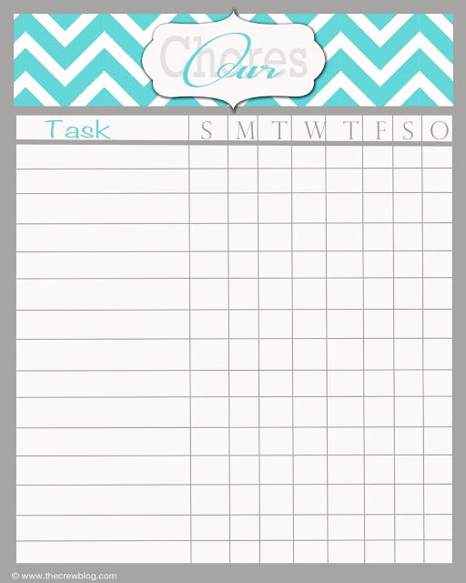 Weekly Chore Chart Template Luxury Free Printable Chore Chart Maker