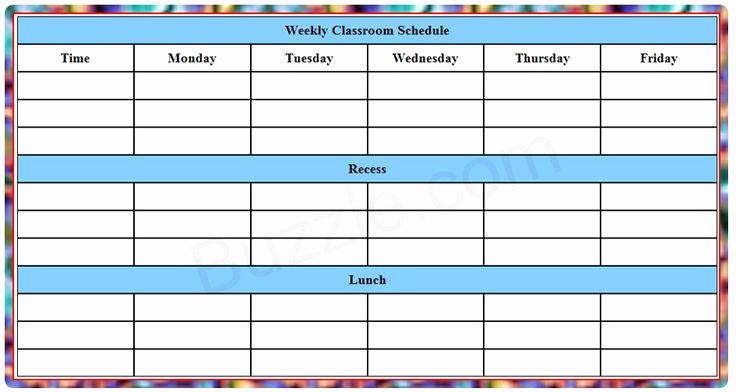 Weekly Class Schedule Template Luxury 25 Bästa Class Schedule Template Idéerna På Pinterest