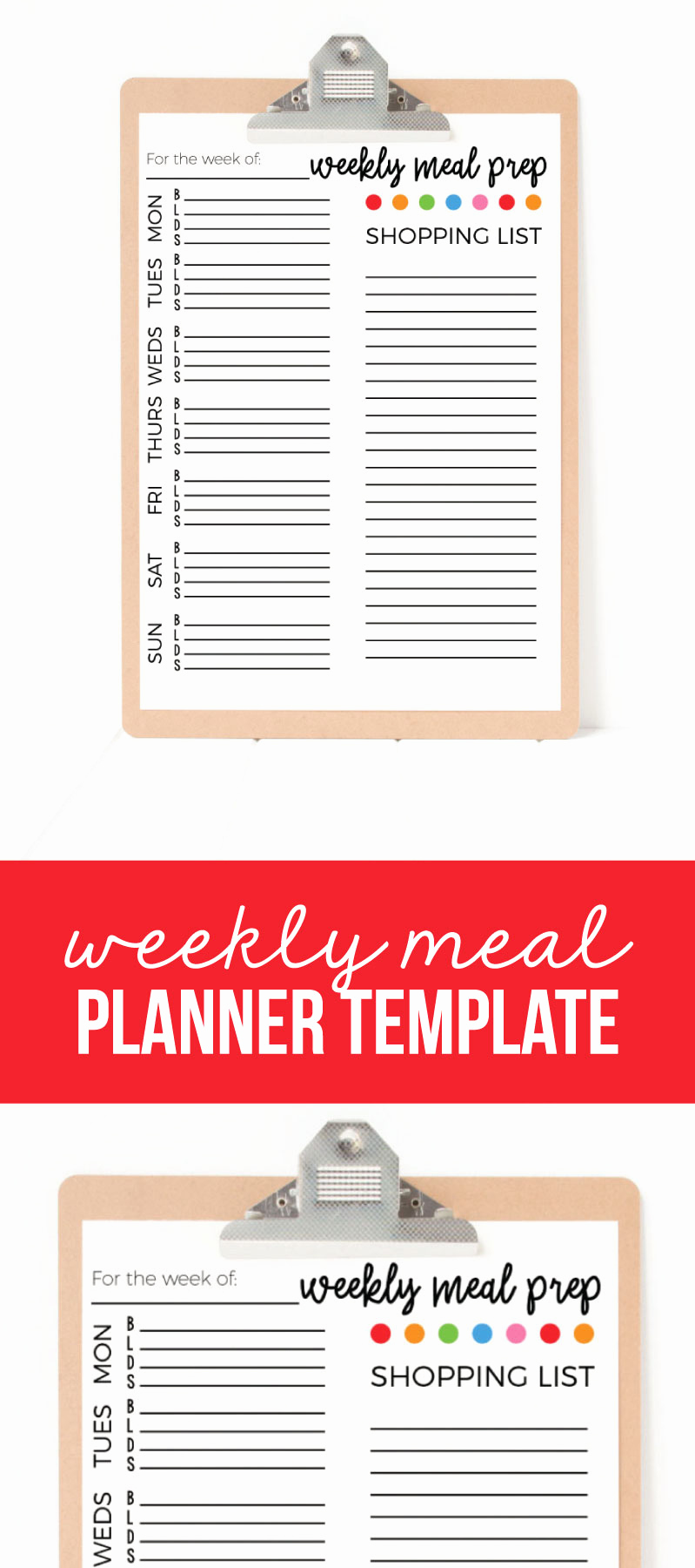Weekly Dinner Menu Template Inspirational Weekly Meal Planner Template