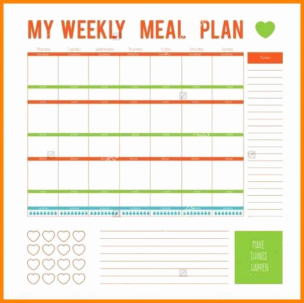 Weekly Dinner Menu Template Unique 12 Editable Menu Planner