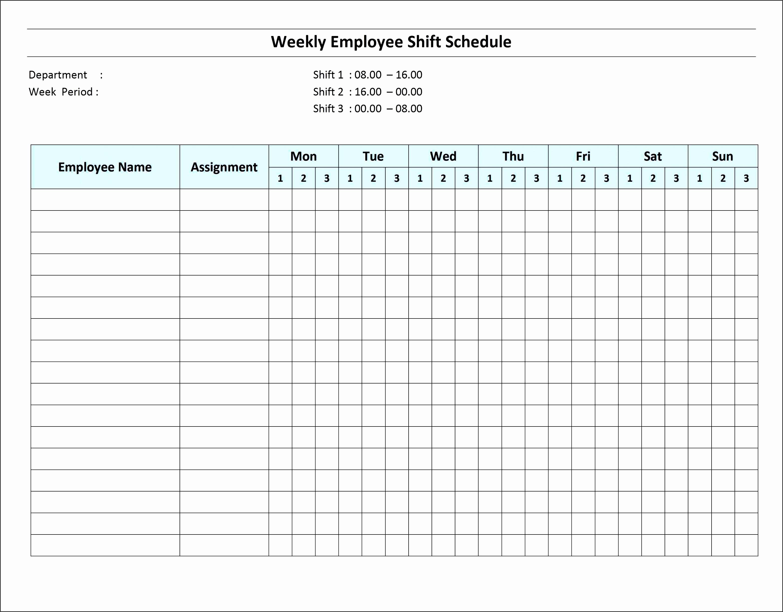 Weekly Employee Schedule Template Best Of 6 Excel Daily Work Schedule Sampletemplatess