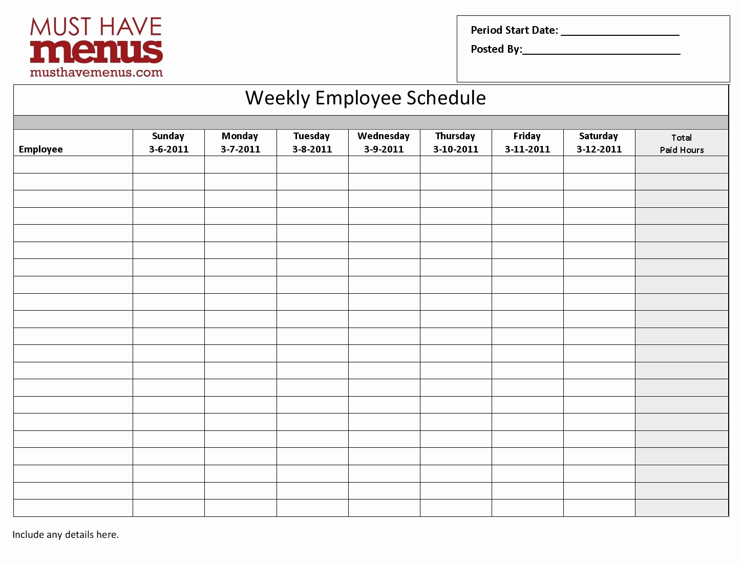 Weekly Employee Schedule Template Inspirational Cancel Save