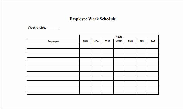 Weekly Employee Schedule Template Inspirational Employee Schedule Template 5 Free Word Excel Pdf