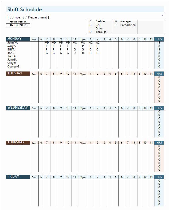 Weekly Employee Schedule Template Inspirational Sample Weekly Schedule Template 35 Documents In Psd
