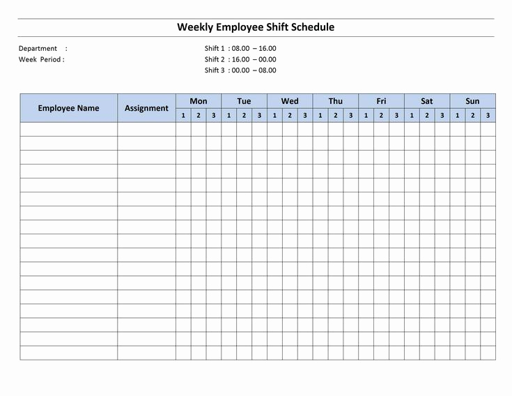 Weekly Hourly Schedule Template Lovely Free Monthly Work Schedule Template