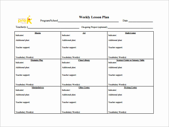 Weekly Lesson Plan Template Pdf Beautiful Weekly Lesson Plan Template 8 Free Word Excel Pdf