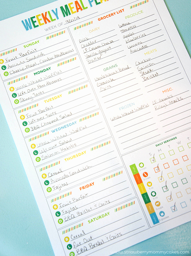Weekly Meal Plan Template Awesome Printable Meal Planning Templates to Simplify Your Life