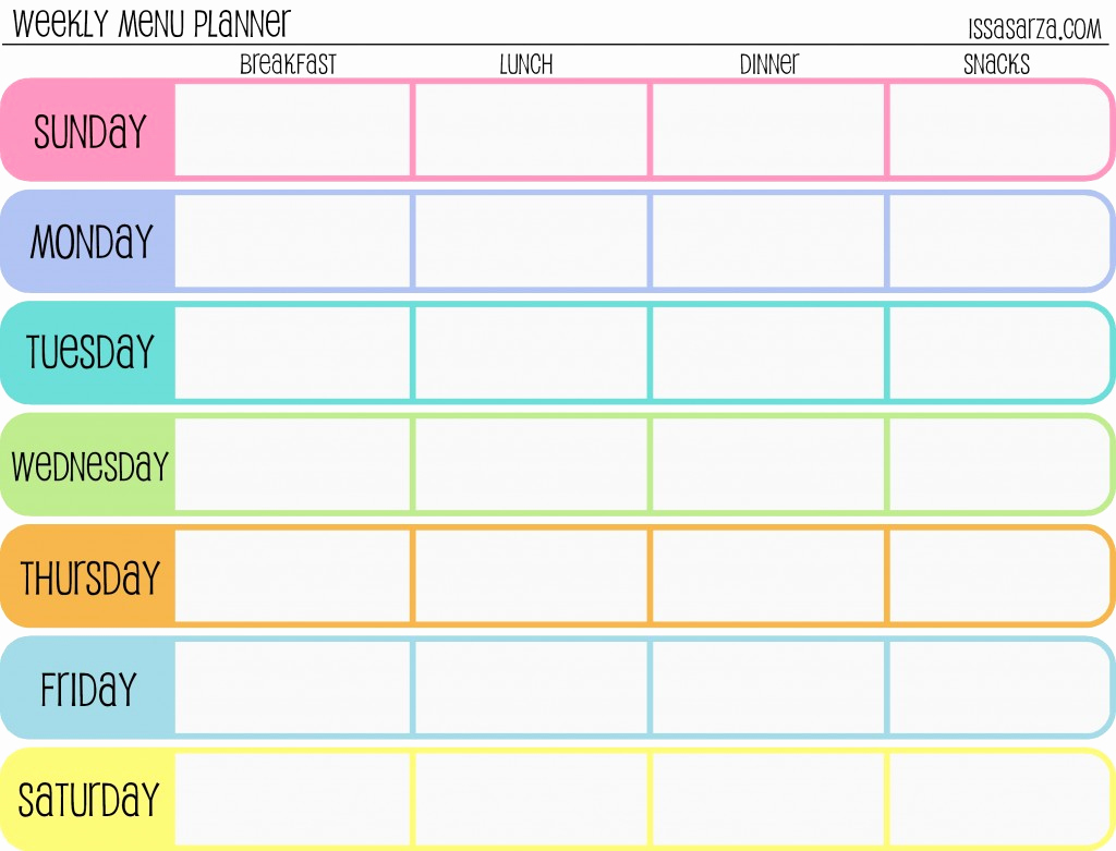 Weekly Meal Plan Template Awesome the Happy Hippie Homemaker Money Saving Monday