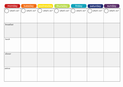 Weekly Meal Plan Template Fresh More Free Printable Menu Plans Picklebums