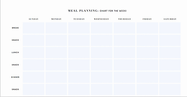 Weekly Meal Plan Template Inspirational Printable Meal Planning Templates to Simplify Your Life
