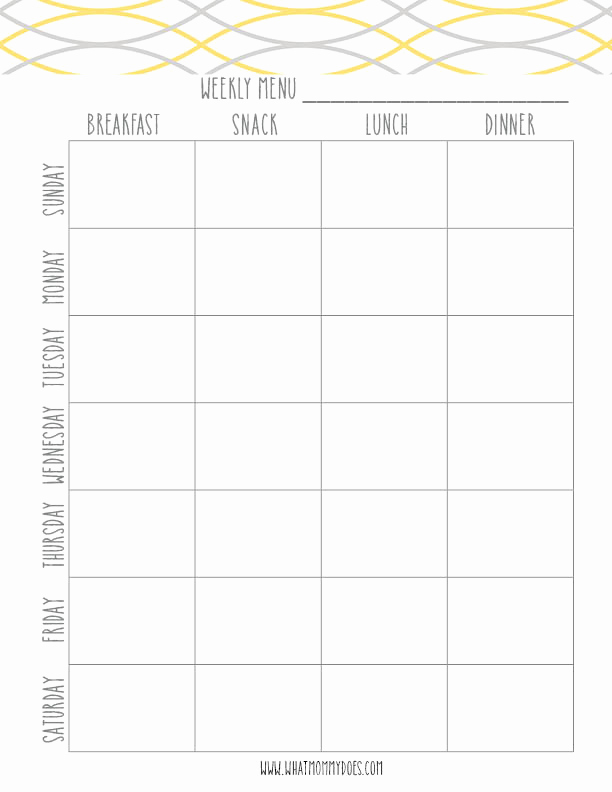 Weekly Meal Plan Template New Free Printable Blue Meal Plan Template