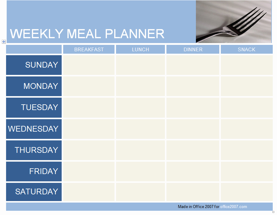 Weekly Meal Plan Template New Weekly Meal Planner Template