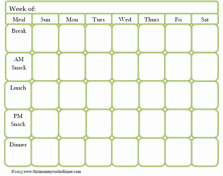 Weekly Meal Plan Template Unique Best 25 Meal Planning Templates Ideas On Pinterest