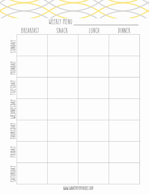Weekly Meal Plan Template Unique Free Printable Weekly Meal Planning Templates and A Week