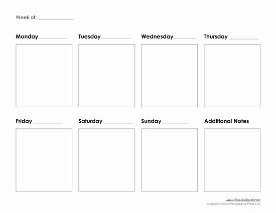 Weekly Planner Template Pdf Beautiful Printable Weekly Calendar Template Free Blank Pdf
