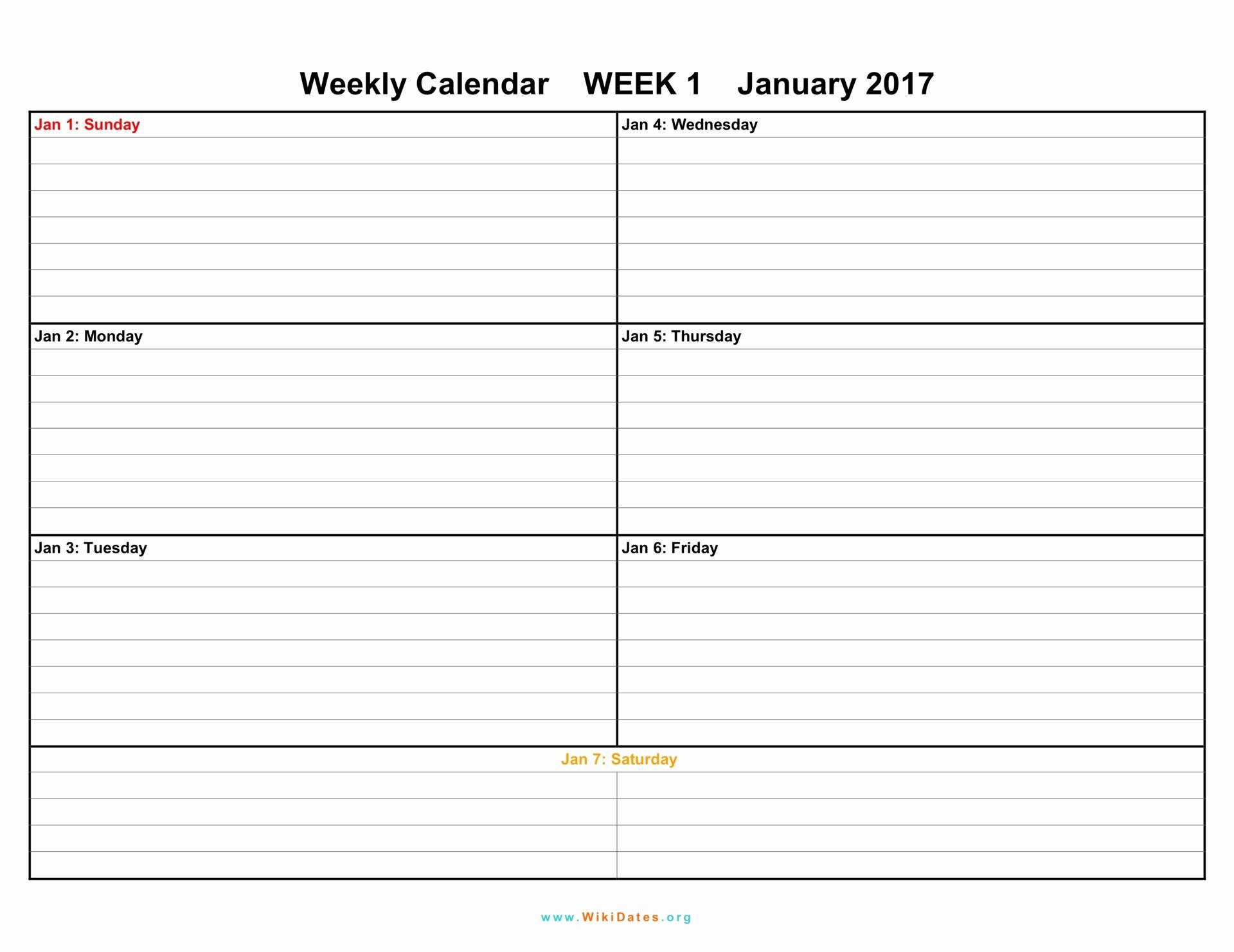 Weekly Planner Template Pdf Elegant Weekly Calendar Download Weekly Calendar 2017 and 2018