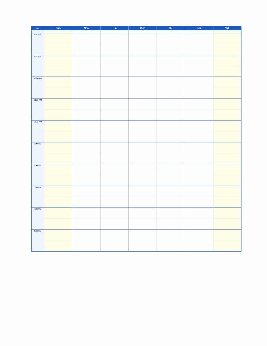 Weekly Planner Template Pdf Fresh 2019 Weekly Planner Template Fillable Printable Pdf