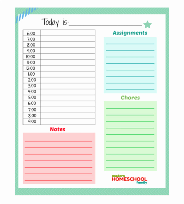 Weekly Planner Template Pdf Inspirational 30 Daily Planner Templates Pdf Doc