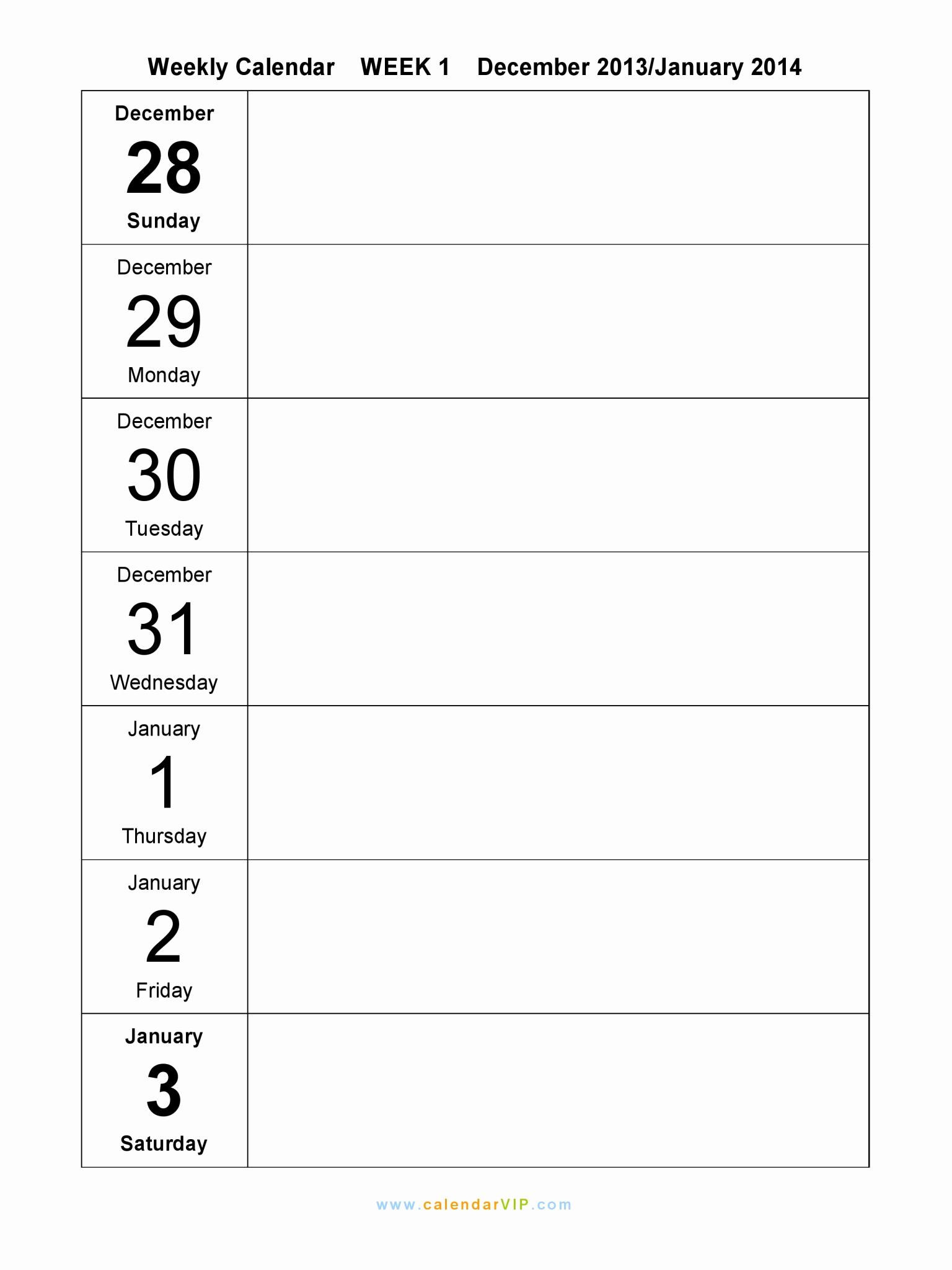 Weekly Schedule Template Printable Beautiful Weekly Calendar 2015 Free Weekly Calendar Templates