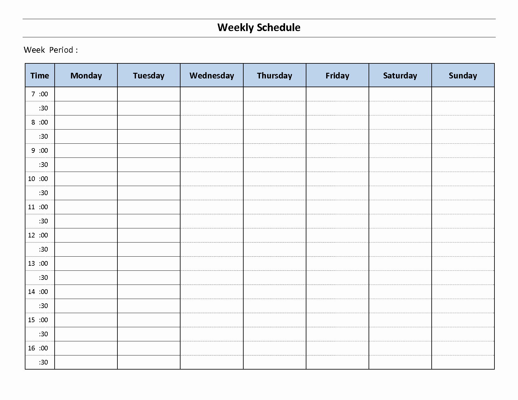 Weekly Schedule Template Printable Best Of Construction Schedule Template Excel Free Download