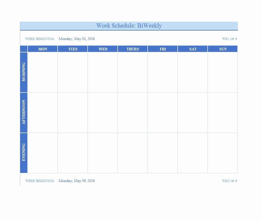Weekly Schedule Template Printable Elegant 26 Blank Weekly Calendar Templates [pdf Excel Word]