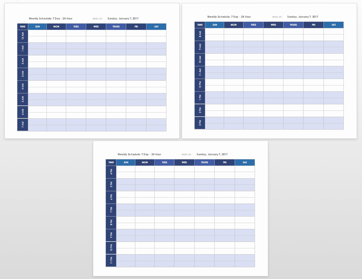 Weekly Schedule Template Printable Fresh Free Blank Calendar Templates Smartsheet