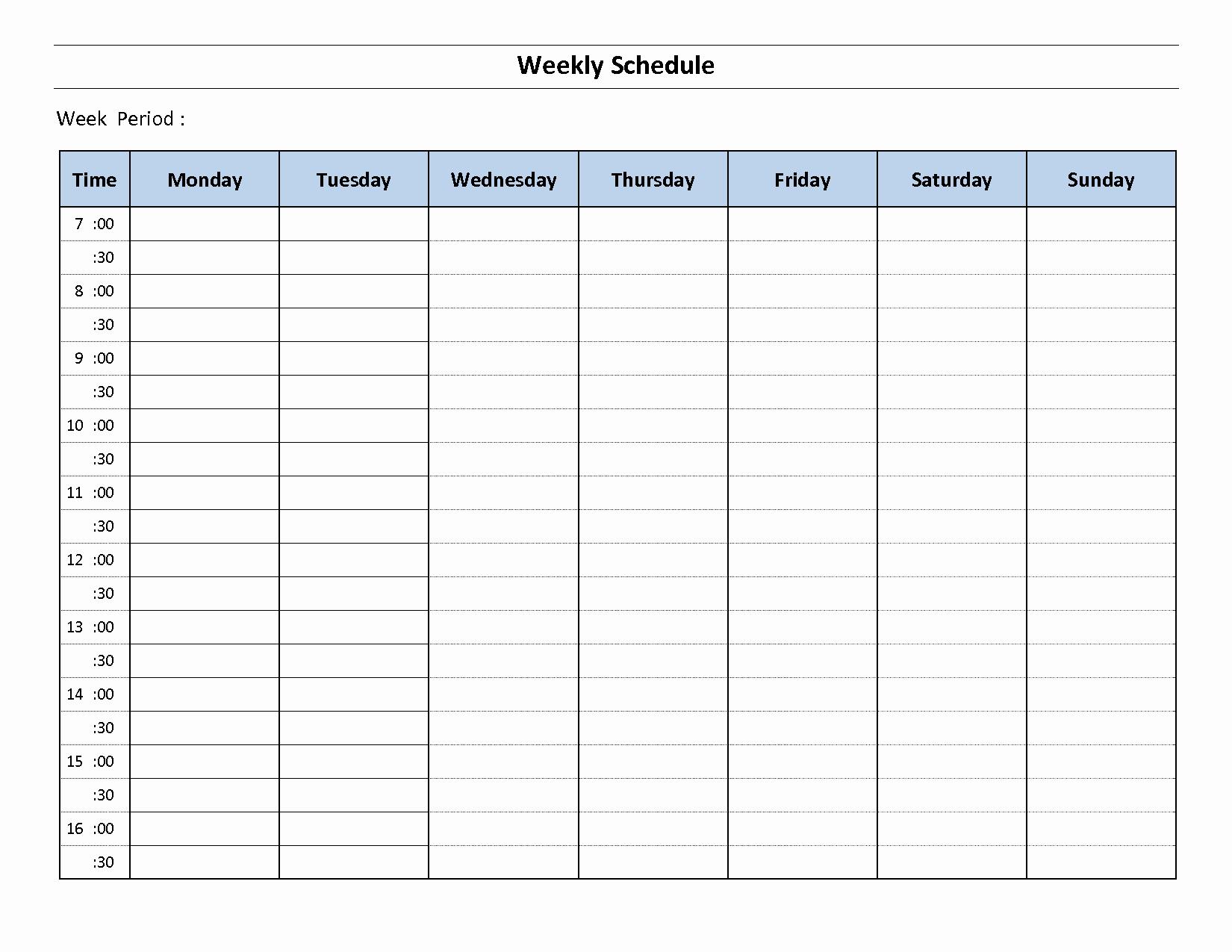 Weekly Schedule Templates Excel Fresh Construction Schedule Template Excel Free Download