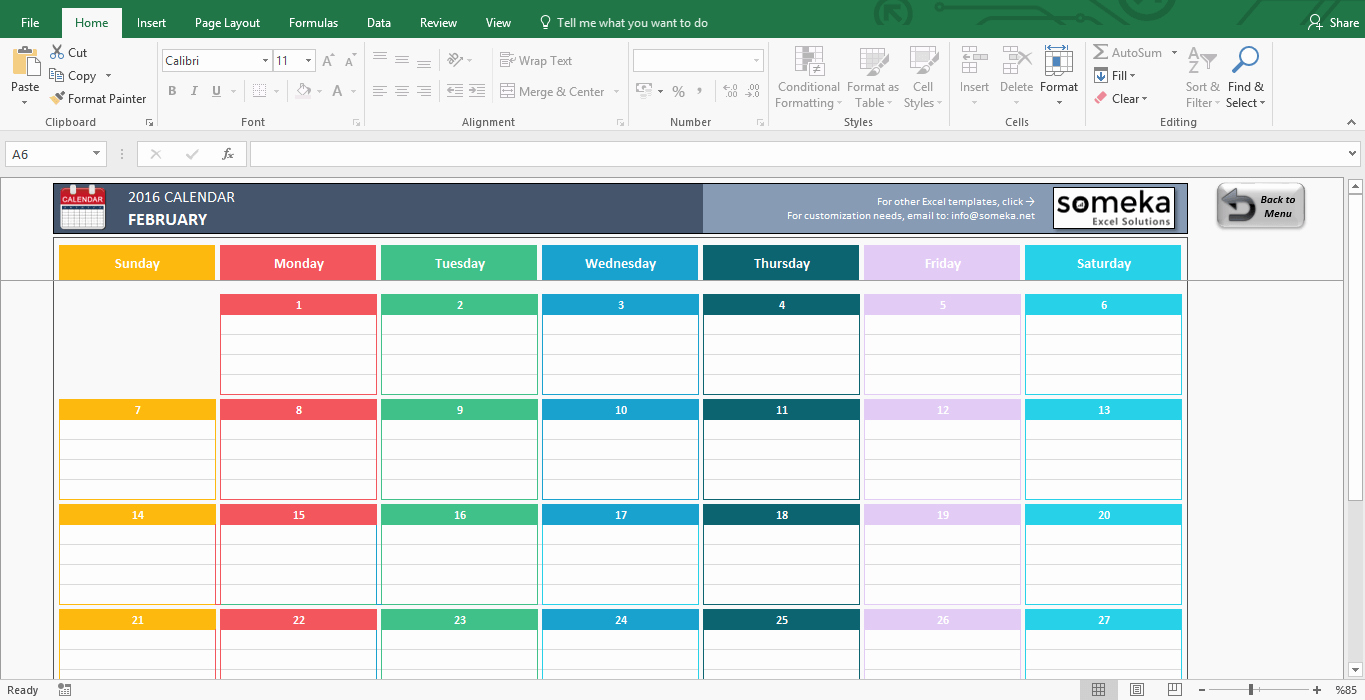 Weekly Schedule Templates Excel Lovely Excel Calendar Template 2019 Free Printable Calendar