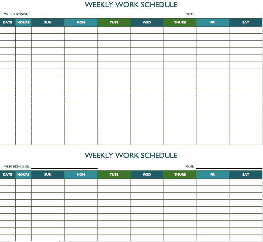 Weekly Schedule Templates Excel Luxury Free Weekly Schedule Templates for Excel Smartsheet