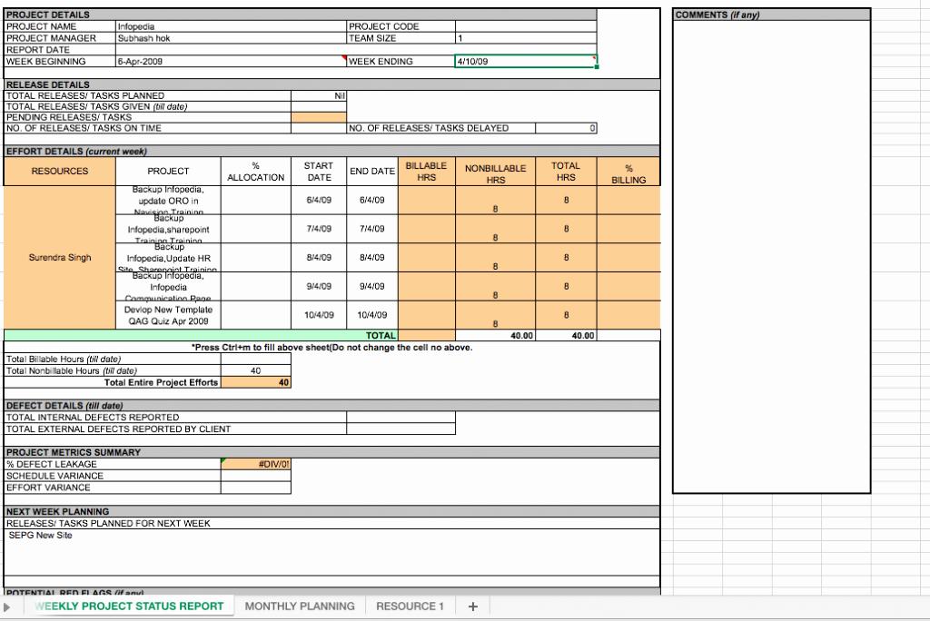 Weekly Status Report Template Beautiful Weekly Project Status Report Template Excel