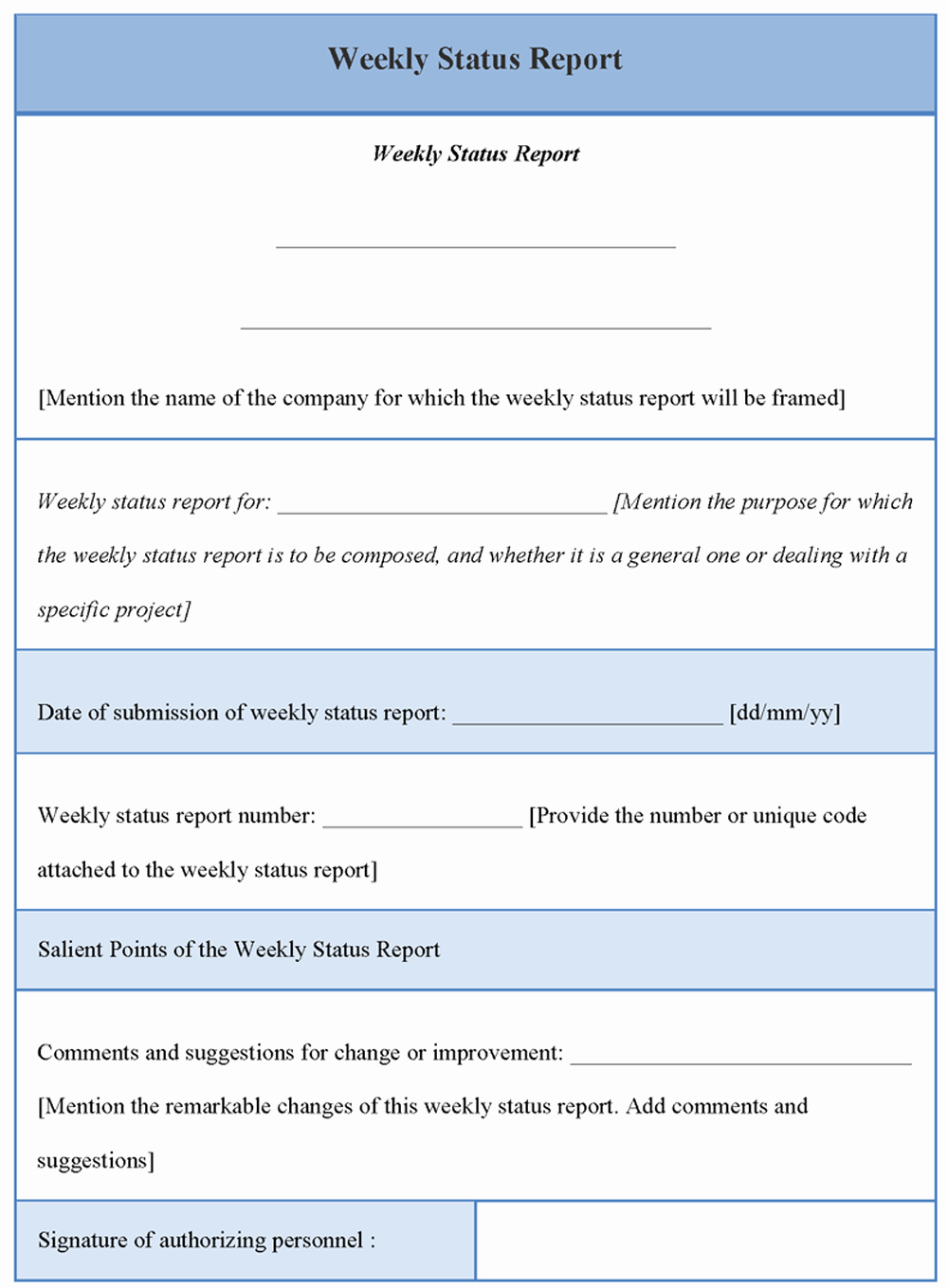 Weekly Status Report Template Fresh Report Template for Weekly Status Example Of Weekly