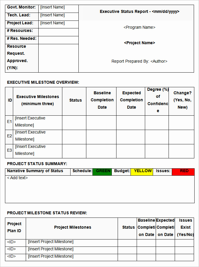 Weekly Status Report Template Fresh Status Report Template 13 Free Word Documents Download