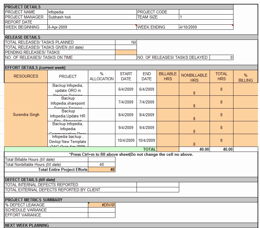 Weekly Status Report Template Inspirational Weekly Status Report Template Professional Business