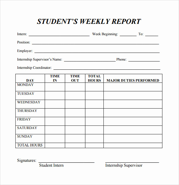 Weekly Status Report Template Lovely 26 Sample Weekly Report Templates Docs Pdf Word Pages