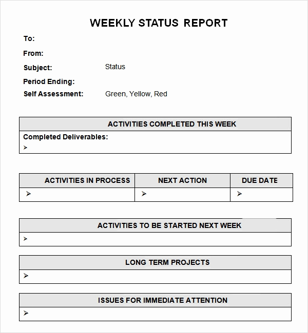 Weekly Status Report Template Lovely Weekly Status Report Template 7 Free Pdf Doc Download