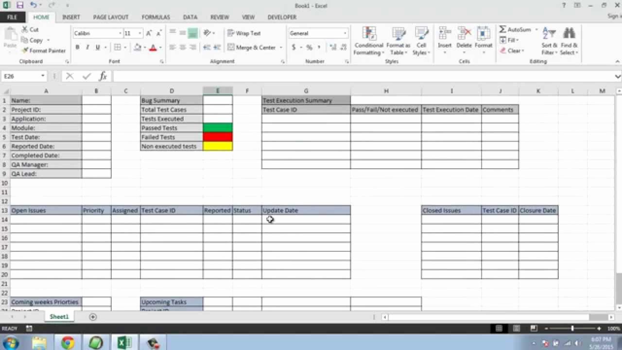 Weekly Status Report Template Luxury software Testing Weekly Status Report Template