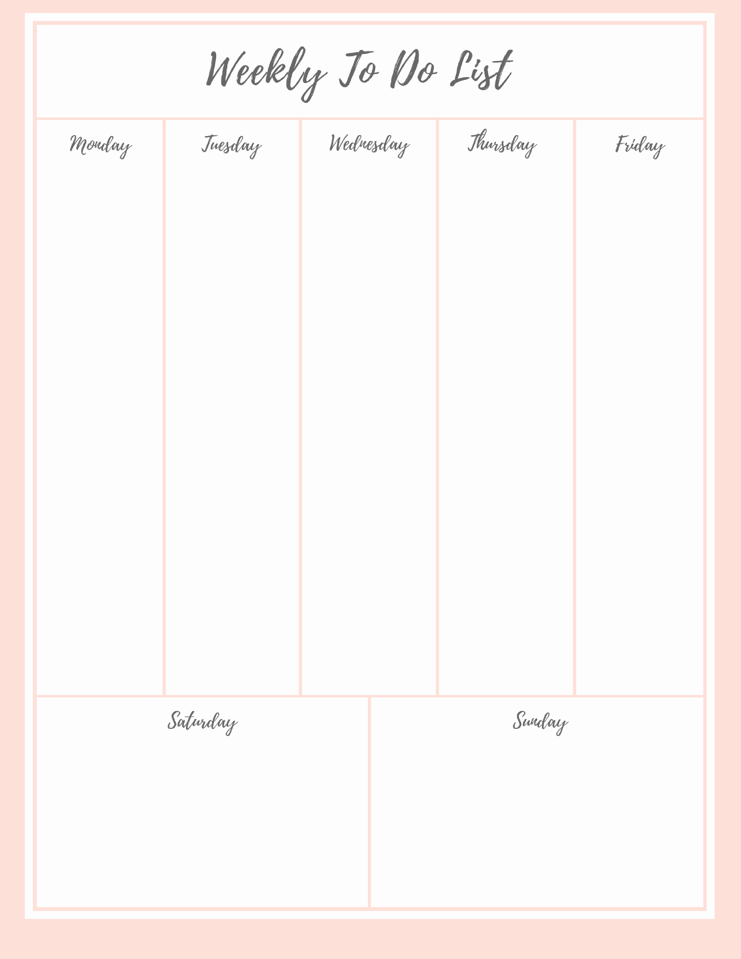 Weekly to Do List Printable Awesome Free Stylish to Do List Plus A Bonus
