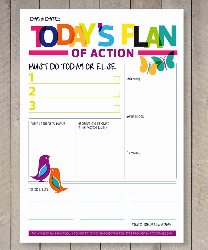Weekly to Do List Printable Awesome Printable Planner Daily to Do List Family organiser Rainbow