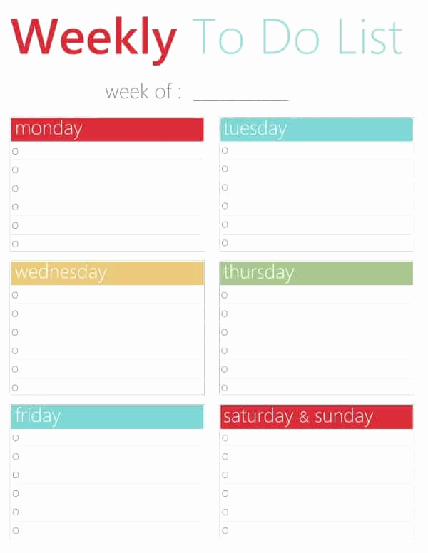 Weekly to Do List Printable Fresh Free Printable to Do Lists Daily and Weekly