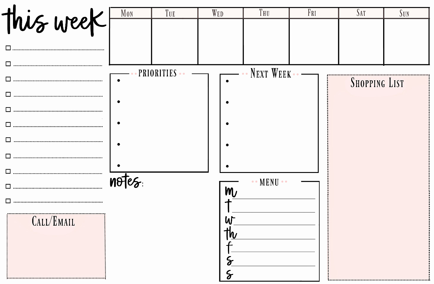 Weekly to Do List Printable New Weekly Printable to Do List for Getting organized