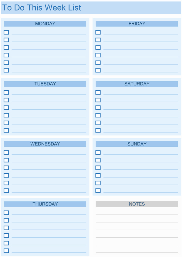 Weekly to Do List Templates Awesome Daily to Do List Templates for Excel
