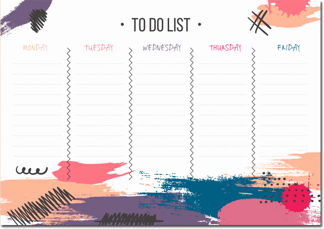 Weekly to Do List Templates Luxury 10 Students Weekly Itinerary and Schedule Templates
